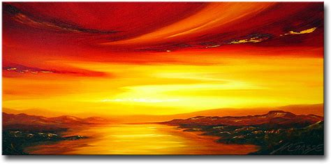 Abstract Sunset paintings