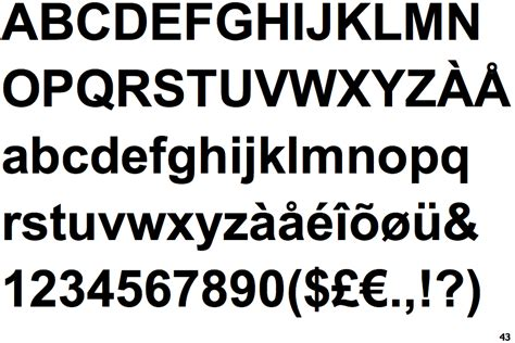 Identifont - Arial Bold