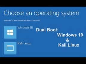 Dual boot Kali Linux and Windows 10 by using EasyBCD - YouTube