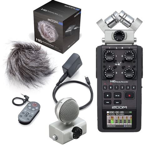 Zoom H6AP Portable Field Recorder with Accessory Pack - DJ