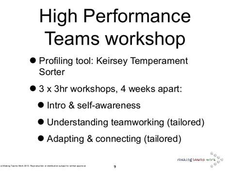 Making Teams Work - Intro to the Keirsey Temperament Sorter