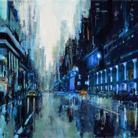 Abstract Cityscape paintings