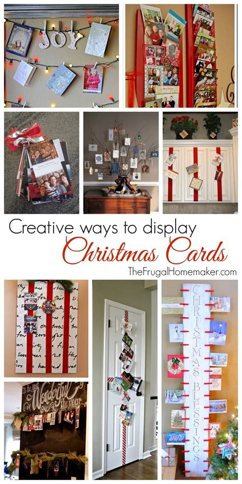 Creative Christmas card display–turn clutter into