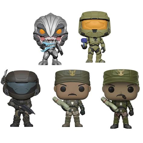 Preorder Halo Pop! Vinyl Figures Set of 5 with Chase – Toy