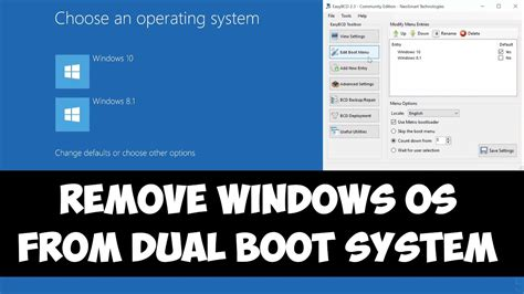 Remove a Windows OS from Dual boot system - YouTube