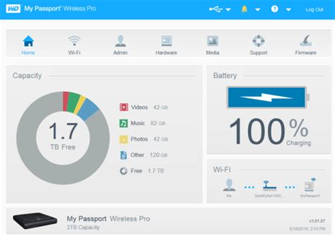 Accessing the Dashboard on a My Passport Wireless