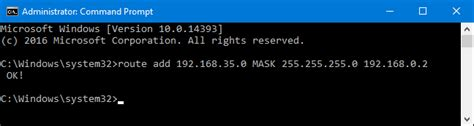 How to Add a Static TCP/IP Route to the Windows Routing Table