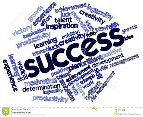 Word Cloud For Success Stock Photo - Image: 27079210