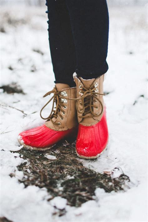 Winter Snow :: Olive Vest + Red Snow Boots - Color & Chic