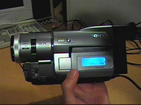 1999 Sony Digital8 camcorder review & test - YouTube