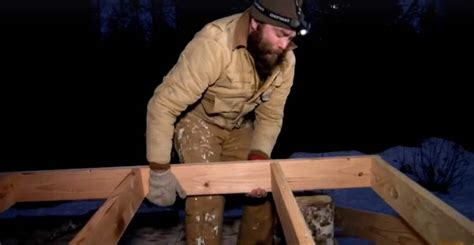 Morgan's epic struggle to single-handedly build a house on