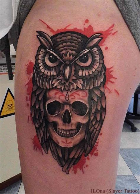 Owl Skull Tattoos Designs, Ideas and Meaning   Tattoos For You