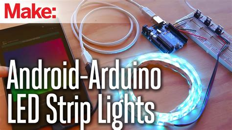Weekend Projects - Android-Arduino LED Strip Lights - YouTube