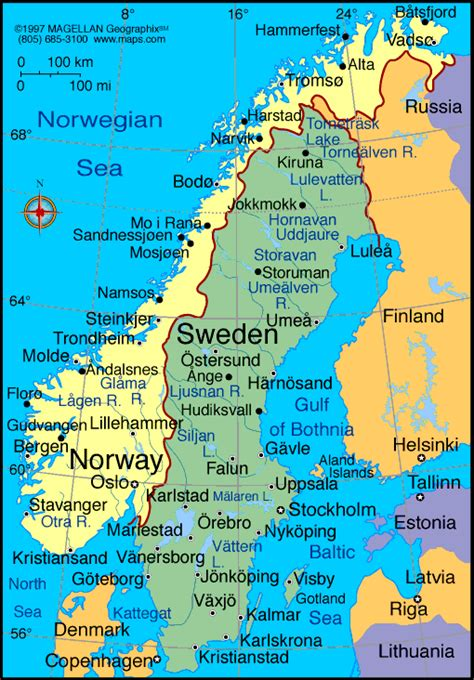Norway Map and Norway Satellite Image