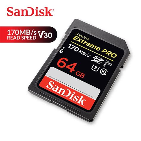 SanDisk Memory Card Extreme Pro SDXC SD Card 170MB/s Read