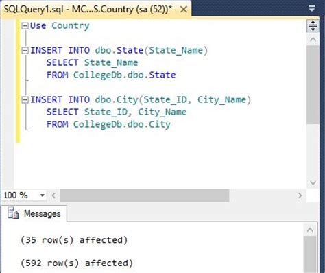 Insert Values from One Database Table to Another Database
