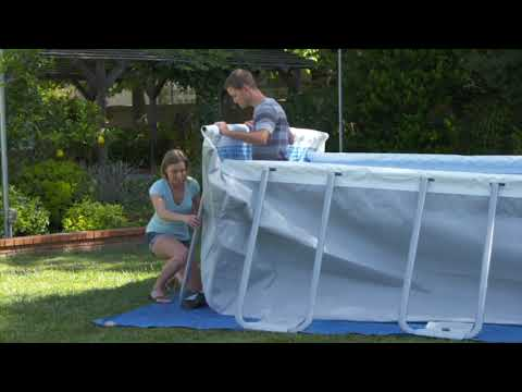 Intex Metal Frame Pool leveling and Installing - YouTube