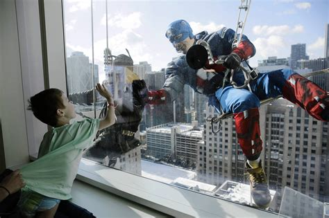 Their superpowers? Boosting spirits at children's hospital