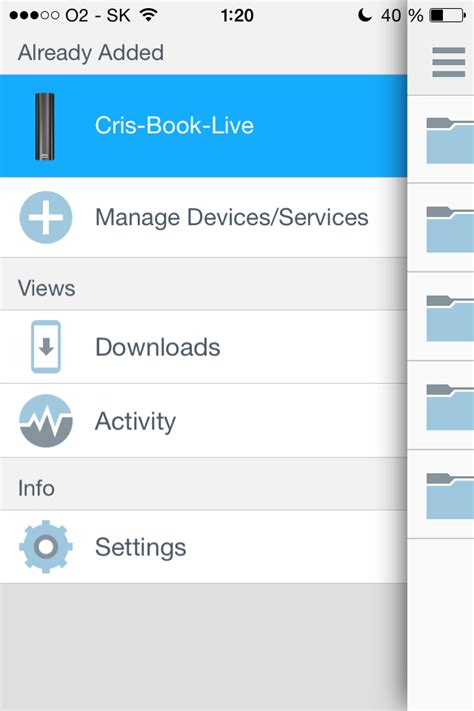 No thumbnail view on mobile app / my book live - My Book